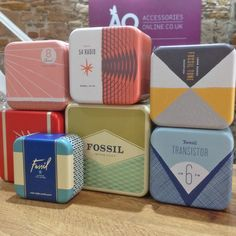 The iconic Fossil tins - come with every item of Fossil jewellery #fossil