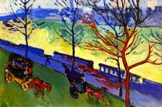 The Thames Embankment / André Derain - 1906