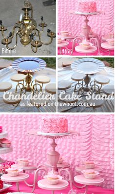 chandelier cake stand - OK now to find a chandalier!