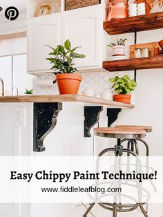 How to get authentically vintage chippy paint | Fiddle Leaf Interiors . . #fiddleeafinteriors #chippypaint #vintagedecor