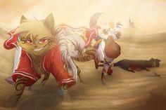 The Shadow Thief by RiverSpirit456.deviantart.com on @DeviantArt // Left to right: Afekia, Mew, Aria, Koru //