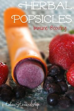 Immune Boosting Herbal Popsicles :: via Kitchen Stewardship ~~ yummy AND good for you! #popsicles #herbal