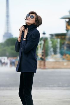 INES DE LA FRESSANGE is in Paris to launch her new Uniqlo collection, and she is in the mood for fun.
