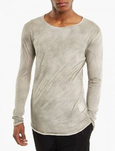 Thom Krom Stone Long-Sleeved Panel T-Shirt The Thom Krom Long-Sleeved Panel T-Shirt for SS17, seen here in stone. - - - Crafted from premium cotton and cut to offer a slim fit, this long-sleeved t-shirt from Thom Krom features unique panel and http://www.MightGet.com/march-2017-2/thom-krom-stone-long-sleeved-panel-t-shirt.asp