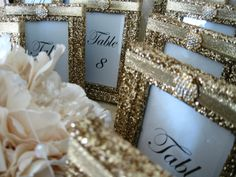 -FOR SIGNS INSTEAD OF TABLE NUMBERS  Weddings Wedding Table Numbers Table Number Holders by KPGDesigns, $85.95