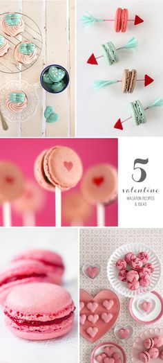 5 Valentine's Day Macaron Recipes & Ideas #valentinesday #funfood