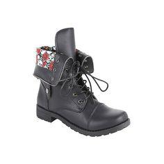 Matiko Women's Samantha Lace-Up Combat Boot (Black) | Women ...