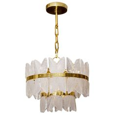 Unusual Gold-Plate Kalmar Frosted Glass Chandelier   See more antique and modern Chandeliers and Pendants at http://www.1stdibs.com/furniture/lighting/chandeliers-pendant-lights