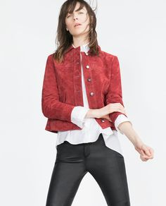 Image 2 of SUEDE JACKET from Zara