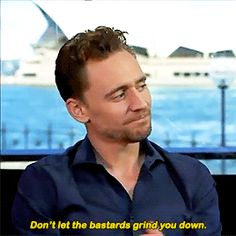 """If you could go back and tell youngTom in school anything what would you say?"". Gif-set (by t-hiddles): http://maryxglz.tumblr.com/post/164684350022/t-hiddles-cause-one-day-youll-be-a-supervillain"