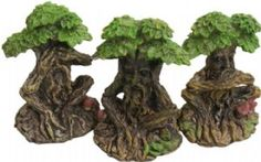 Green Man~Pagan Hippy 3 Wise Tree Men - Hear, See, Speak No Evil~Fair Trade by Folio~TO_3511