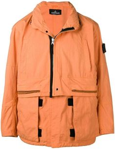 Stone Island Shadow Project Layered Hooded Jacket In Orange Compass Logo, Stone Island Shadow Project, Business Casual Men, Parka Coat, Rain Wear, Silhouette Design, Size Clothing, Hooded Jacket, Street Wear