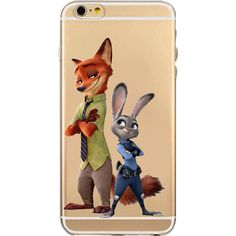 Zootopia Judy Hopps and Nick Wilde iPhone Case  Flexible Transparent Silicon Case  Case for iPhone 5 - 5s - 5c - 6 - 6s - 6 Plus - 6s Plus - 7 - 7 Plus  Shipping 20-39 days (ships out within 7 business days)