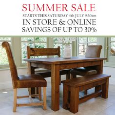 Haddon Plank Dining Table Online From Curiosity Interiors Rustic Chunky Wood Tables Furniture Handmade In Derbyshire UK