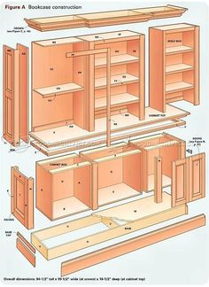 Grand Bookcase Plans - Furniture Plans and Projects - Woodwork, Woodworking, Woodworking Plans, Woodworking Projects