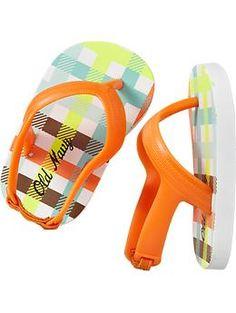 Printed Heel Flip-Flops for Baby