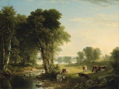 The Babbling Brook - Durand, Asher Brown - Hudson River School - Oil on canvas - Landscape - TerminArtors