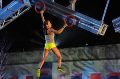 American Ninja Warrior season 6 - Kacy Catanzaro was the first woman to make it through the course (& up the 14ft warped wall - at just 5.0 ft herself)!! She is truly an inspiration! (and it was fun to see her do what MANY other men couldn't do)