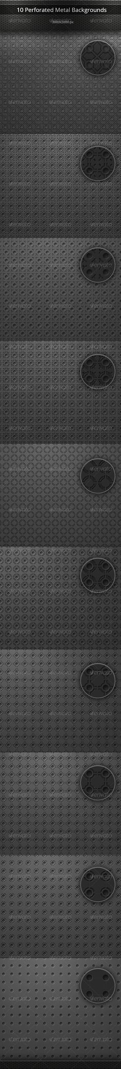 Perforated Metal Backgrounds Set