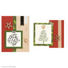 Add a personal, handmade touch to your Christmas cards this year. #handmadecards #crafting