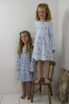 Their Nibs Alice & Unicorn Print Jersey Dresses from AW'17 Collection.