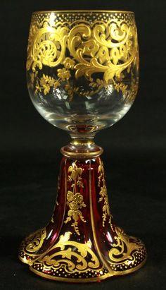MOSER WINE GLASS : Lot 91
