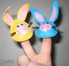 Josélia Workshop: mei 2012 - felt bunny finger puppets