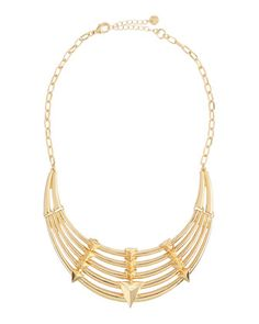 Lydell NYC Tiered Pyramid-Stud Bib Necklace, $22.50