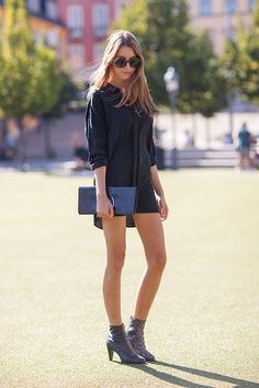 Street Style Spring 2014 - Stockholm Fashion Week Street Style - Harper's BAZAAR simplicity