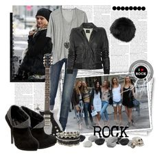 """ROCK"" by penelopeee ❤ liked on Polyvore featuring Adrienne Landau, WALL, F, Nicole Farhi, Edun, T By Alexander Wang, NYMPHENBURG, J.Crew, Rock & Republic and ASOS"