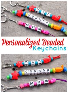 Personalized Beaded Keychains - 15 Minute Craft