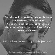 The journals of writers like Virginia Woolf, Vladimir Nabokov and John Cheever can teach writers and professionals important writing and creativity lessons. Learn how to write a journal. Writing Quotes, Writing Advice, Writing Help, Creative Teaching, Creative Writing, John Cheever, Author Quotes, Writing Inspiration, Authors