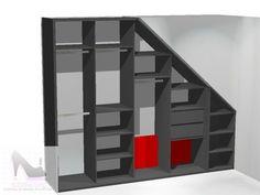 Garderoba ze skosem i drzwiami przesuwanymi