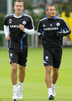 The two LEGENDS of english premier league football. Frank Lampard and John Terry