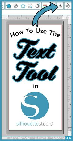 Everything you've wanted to know about how to use the Text Tool in Silhouette Studio! Learn the basics of adding text as well as how to jazz up any design! Plotter Silhouette Cameo, Silhouette Cutter, Silhouette School, Silhouette Cameo Tutorials, Silhouette Curio, Silhouette Machine, Silhouette Projects, Silhouette Design, Silhouette America