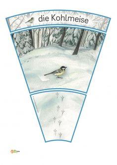 KiGaPortal - for pre-K, kindergarten and elementary school Winter Forest, Snow Forest, Animal Footprints, Kindergarten, Winter Schnee, Fox Squirrel, Animal Tracks, Winter Cocktails, Image Categories