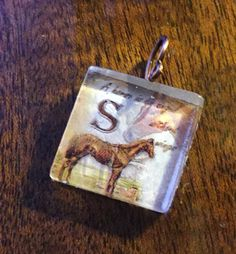 S  Horse Image Glass Tile  Horses Give You Wings by vowangems. Explore more products on http://vowangems.etsy.com