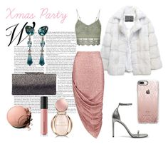 """""""Christmas Party"""" by teopintea ❤ liked on Polyvore featuring Lilly e Violetta, Boohoo, Casetify, Topshop, Jimmy Choo, Yves Saint Laurent, Chanel, Bare Escentuals and Bulgari"""