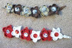 Zipper Flower Bracelets by SiennaSews on Etsy, $7.98 Free Shipping!!!!