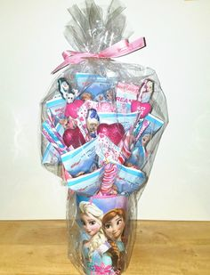 Frozen Candy Bouquet by GreatlyGifted on Etsy https://www.etsy.com/listing/506427705/frozen-candy-bouquet