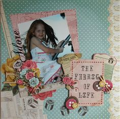 'Adore' Layout by Hetty Hall Scrapbook Designs, Scrapbooking Layouts, Love Cards, Color Card, Scrapbook Albums, Young Children, Gel Pens, Needle And Thread, Embroidery Thread