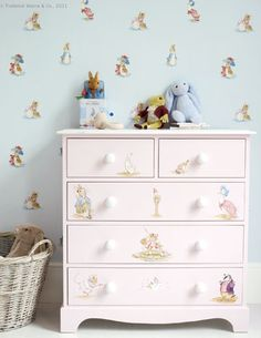 Beatrix Potter Nursery Tales Collection Jane Churchill Fabrics Wallpapers Nice Idea For Chest Of Drawers