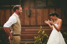 24 Grooms Blown Away By Their Beautiful Brides. some of these are too cute!