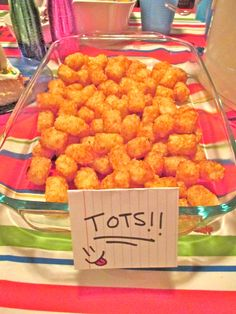 90's Party~ Cafeteria Food-Tots!
