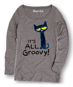 Love this long sleeved woman's shirt featuring Pete the Cat!