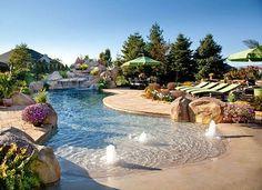 Natural Swimming Pools, Swimming Pools Backyard, Swimming Pool Designs, Pool Landscaping, Lap Pools, Natural Pools, Indoor Pools, Pool And Patio, Kids Swimming