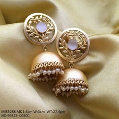 For orders, please whatsapp image of the product you like on Online Payment*/Cash on Delivery*- Both available COD*- Rs. 75 extra charge + o Indian Jewelry Earrings, Indian Jewelry Sets, Fancy Jewellery, Jewelry Design Earrings, Gold Earrings Designs, Indian Wedding Jewelry, Ear Jewelry, Antique Earrings, Stylish Jewelry
