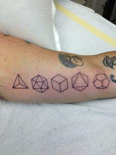 platonic solids sacred geometry by greg at island tattoo staten island - Imgur