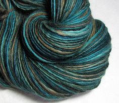 SheepingBeauty made this gorgeous Handspun Yarn Thick and Thin Single Corriedale 'Diego' (linked to Etsy shop listing)