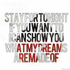 Sleeping With Sirens November Lyrics | Found on band-lyrics.tumblr.com
